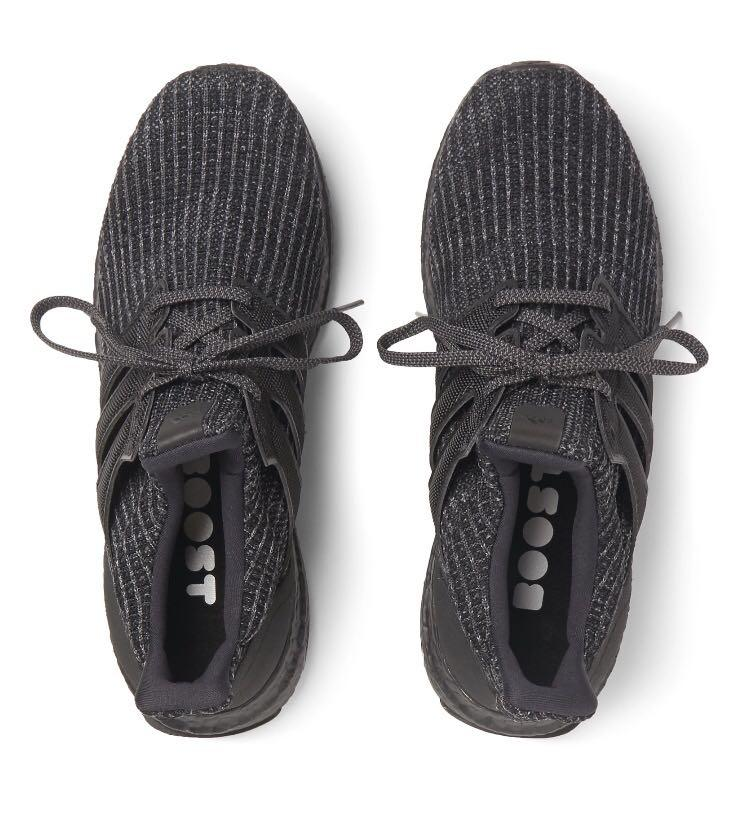 Adidas Ultra Boost Triple Black Primeknit Sneakers (101