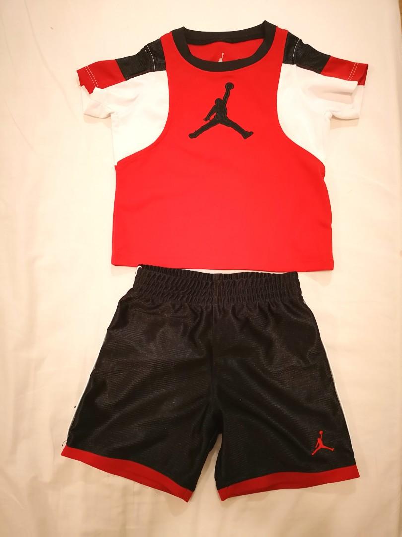 2eeeeffe7d3 Air Jordan T-shirt and Shorts Set, Babies & Kids, Babies Apparel on ...