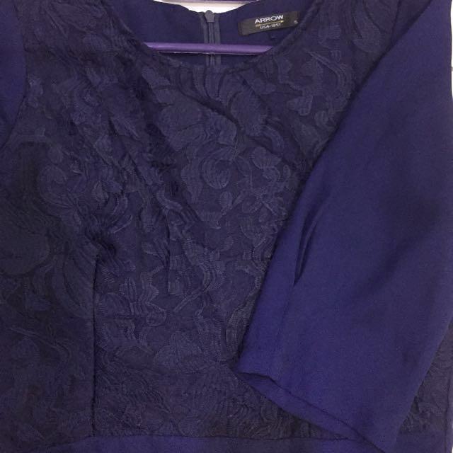 Arrow Blouse [Navy Blue]