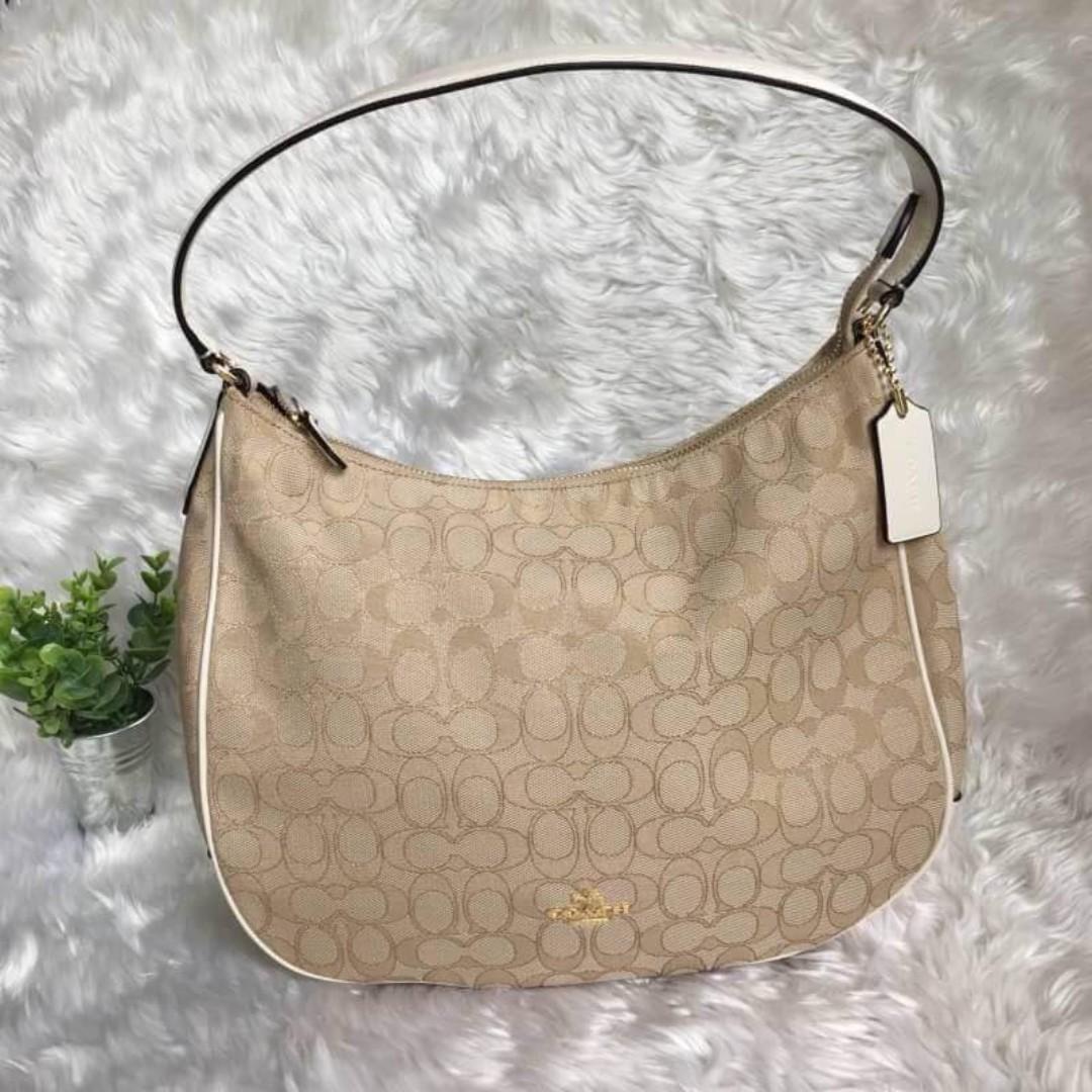 8c57969e687e Authentic Coach Zip Shoulder Bag In Signature Jacquard F29959 ...