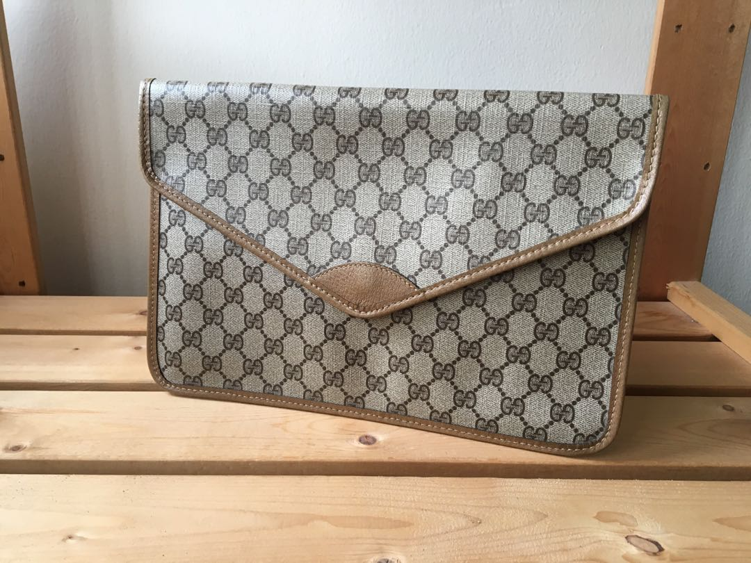 ecd86a5f7 Authentic Gucci Classic Envelope Clutch Bag, Luxury, Bags & Wallets ...
