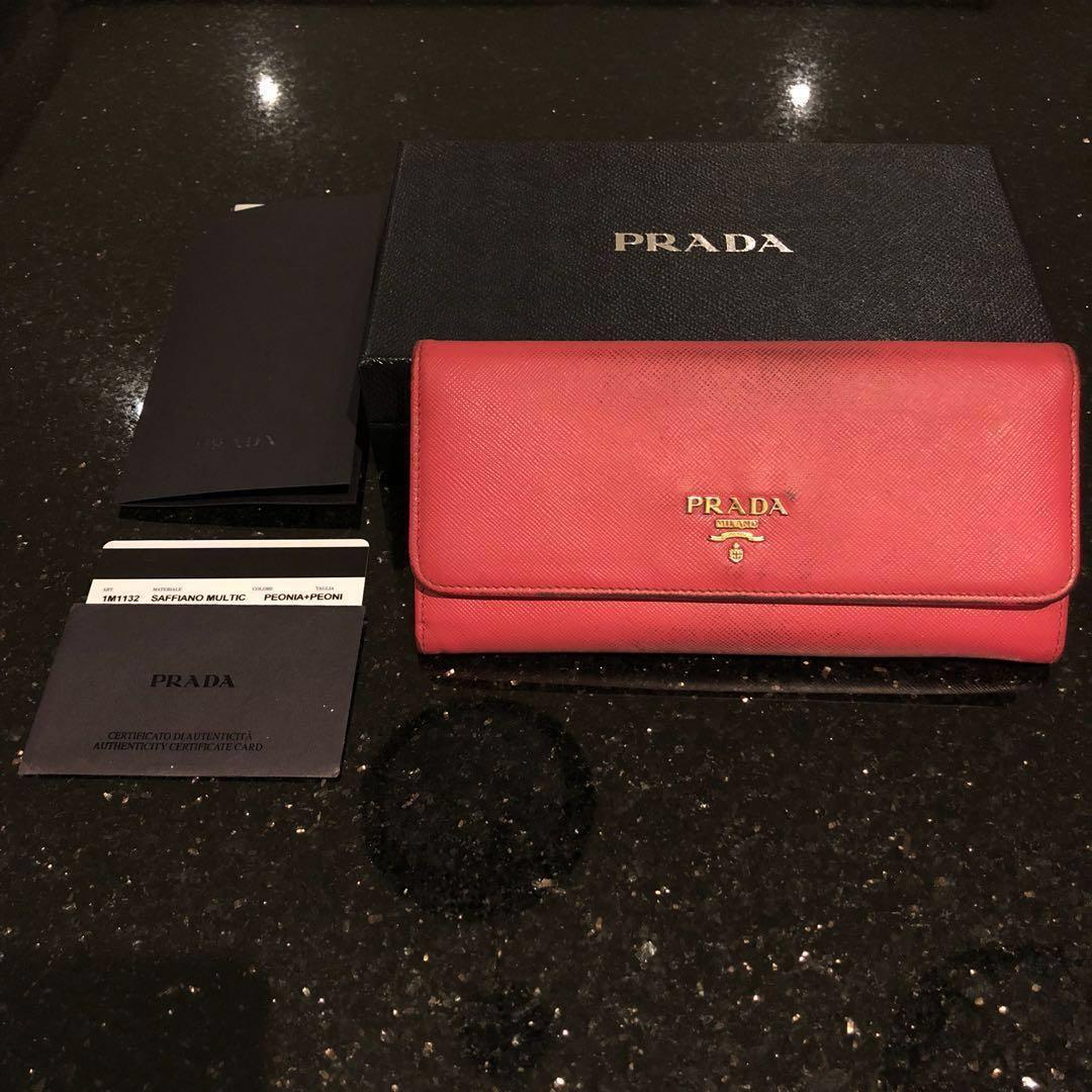 fed073cbaba2 Authentic Prada Saffiano Multicolor Wallet (Peonia/Pink). Price is ...