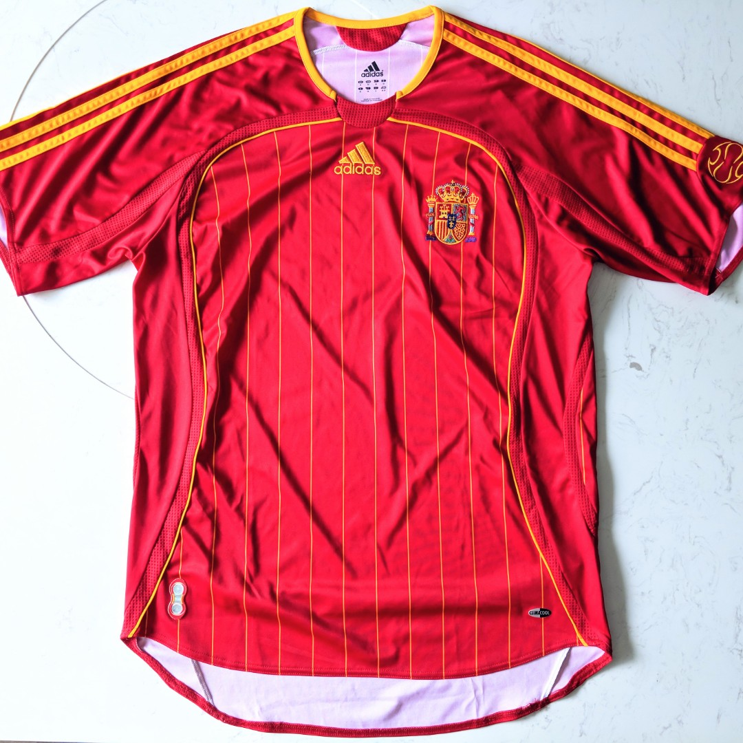 on sale e86f9 42f60 Authentic Spain 06/07 Adidas Home Jersey