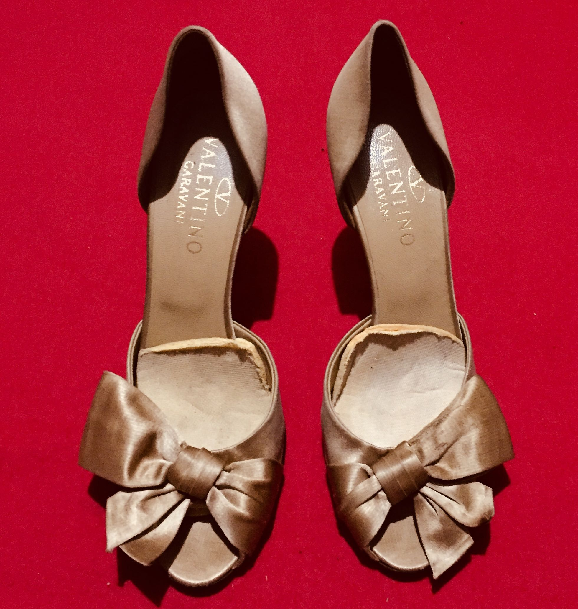 396163f80e5 Authentic Valentino Bow Heels Sandals