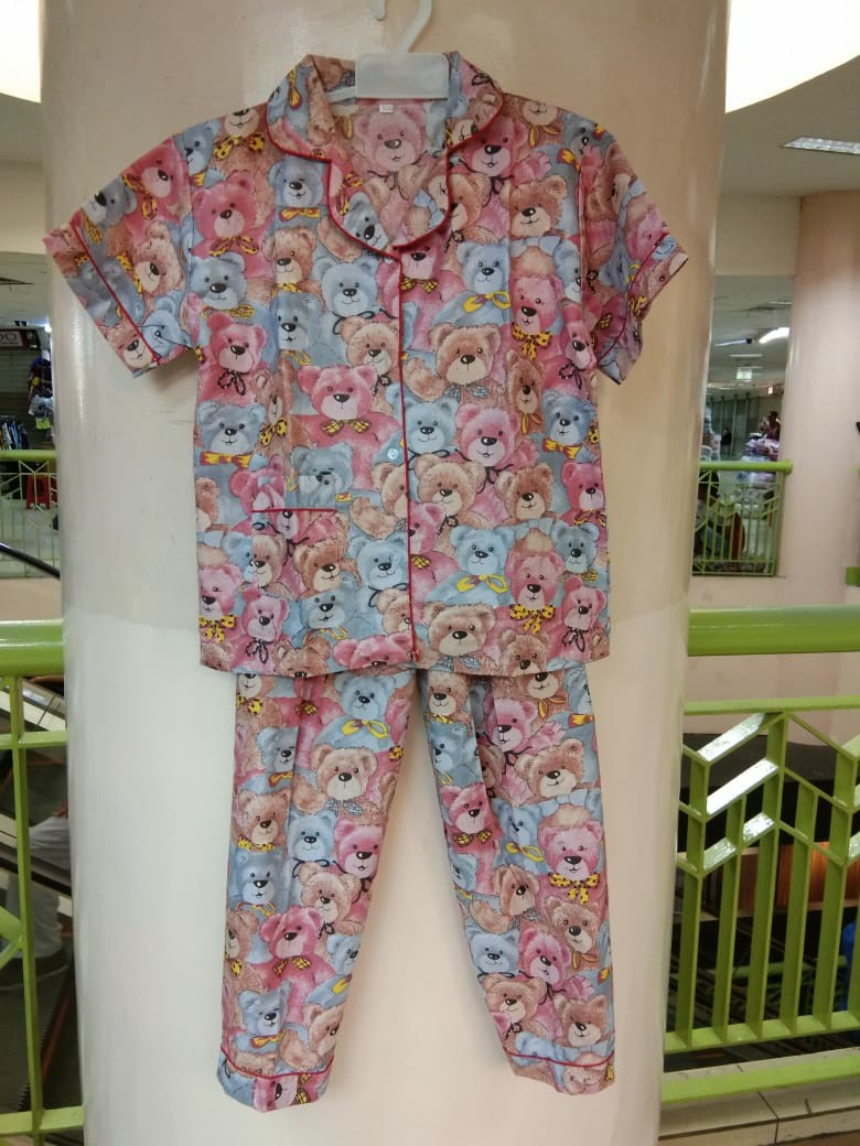Baju Tidur Piyama Anak Motif Teddy Bear Lucu Ukuran XL XXL XXXL, Babies & Kids, Girls' Apparel on Carousell