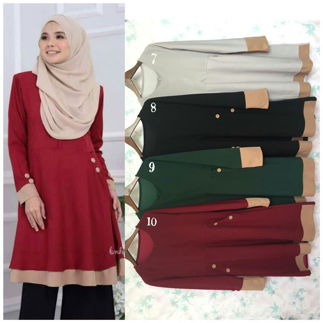 f71eabc3d24b12 Blouse Helena, Women's Fashion, Muslimah Fashion on Carousell