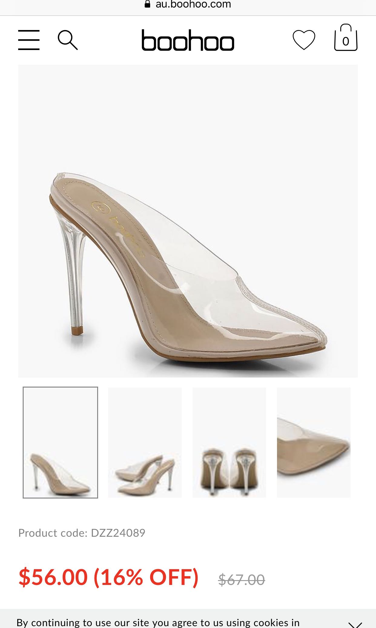 c94aac26d5 Boohoo clear heels, Women's Fashion, Shoes on Carousell