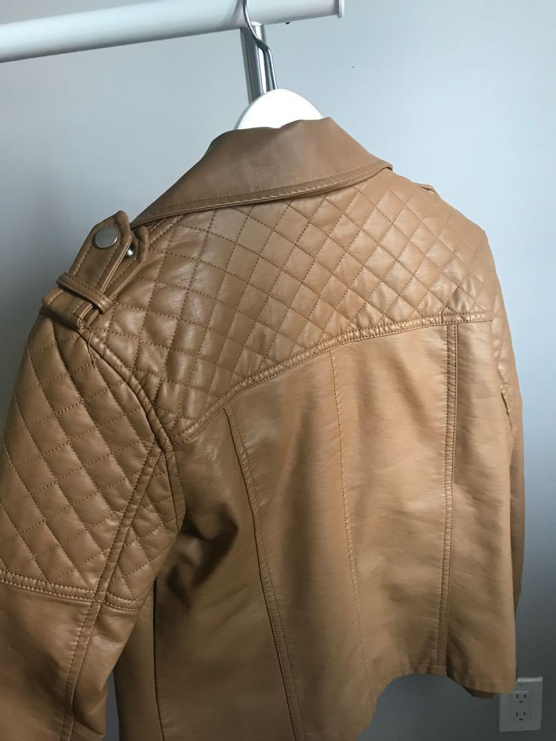 Brown Leather Jacket F21