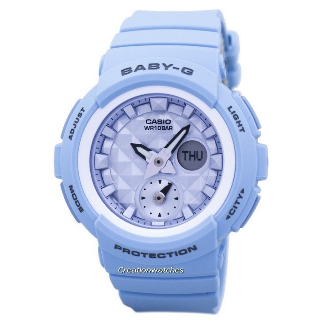 f1eb78cd43a Casio Baby-G Shock Resistant World Time Analog Digital BGA-190BE-2A ...