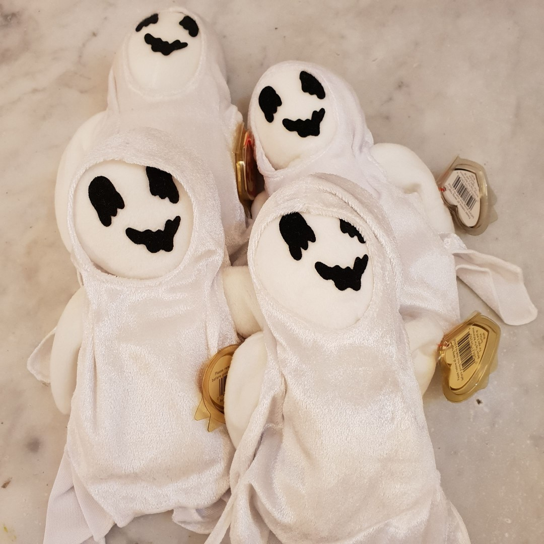 0a51bcb6223 GENUINE TY BEANIE BABY - Sheets The Ghost. 4 available. Brand new ...