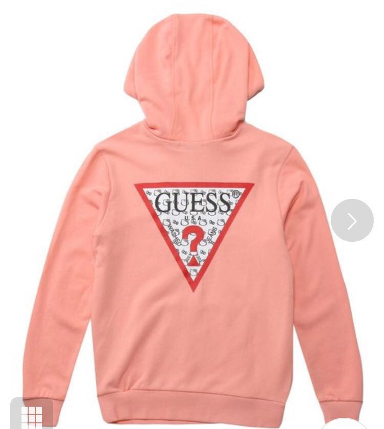 369f69f770b Guess x hello kitty pattern triangle logo pullover hoodie japan ...