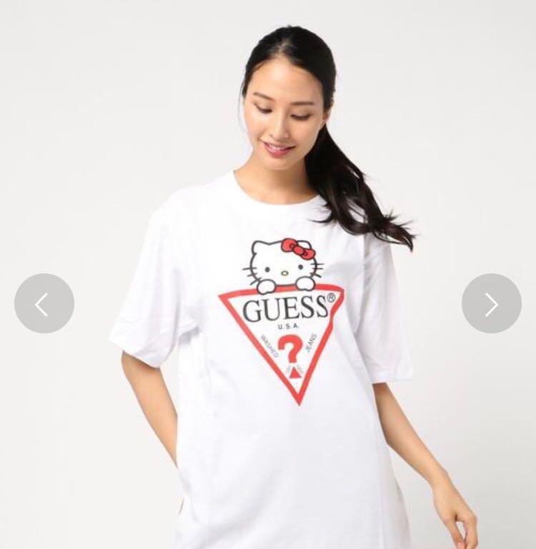 106e99c18ba Guess x hello kitty triangle logo tee japan exclusive