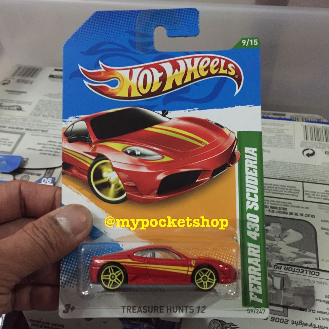 hot wheels ferrari 430 scuderia (th), toys & games, others on carousell