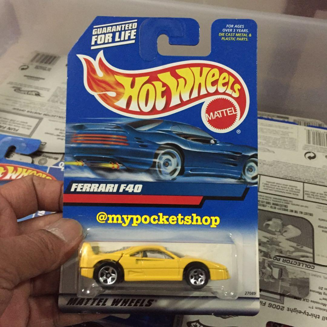 Hot Wheels Ferrari F40 Yellow Toys Games Others On Carousell