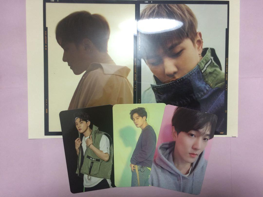 IKON DK/Donghyuk Return photocard and photoflim red, black version KPOP