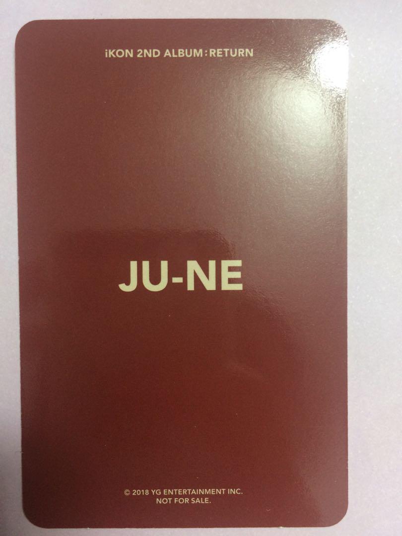 IKON June/Ju-ne/Junhoe Return photocard red, black version KPOP