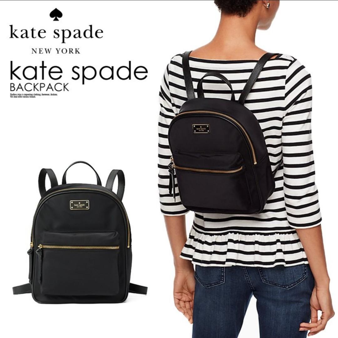 67a7e694de99 Kate Spade Small Bradley Wilson Road Black Backpack