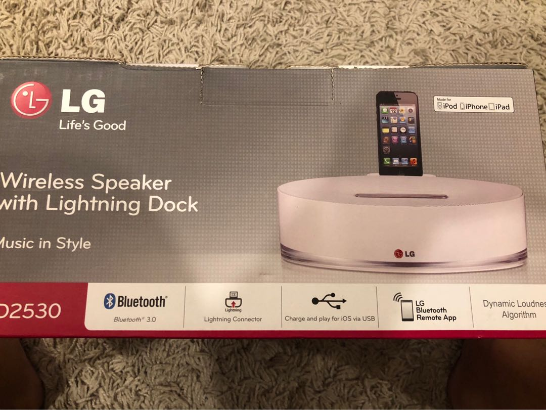 LG lighting dock for iphones and ipads