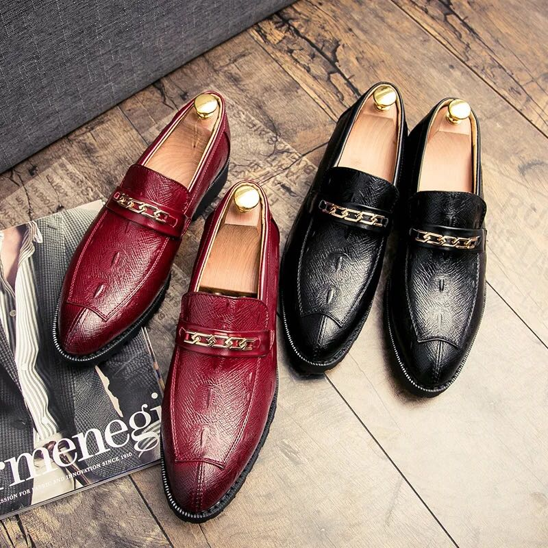 eb70c62299a Men s Korean Style Formal Business Slip On Loafers Shoes