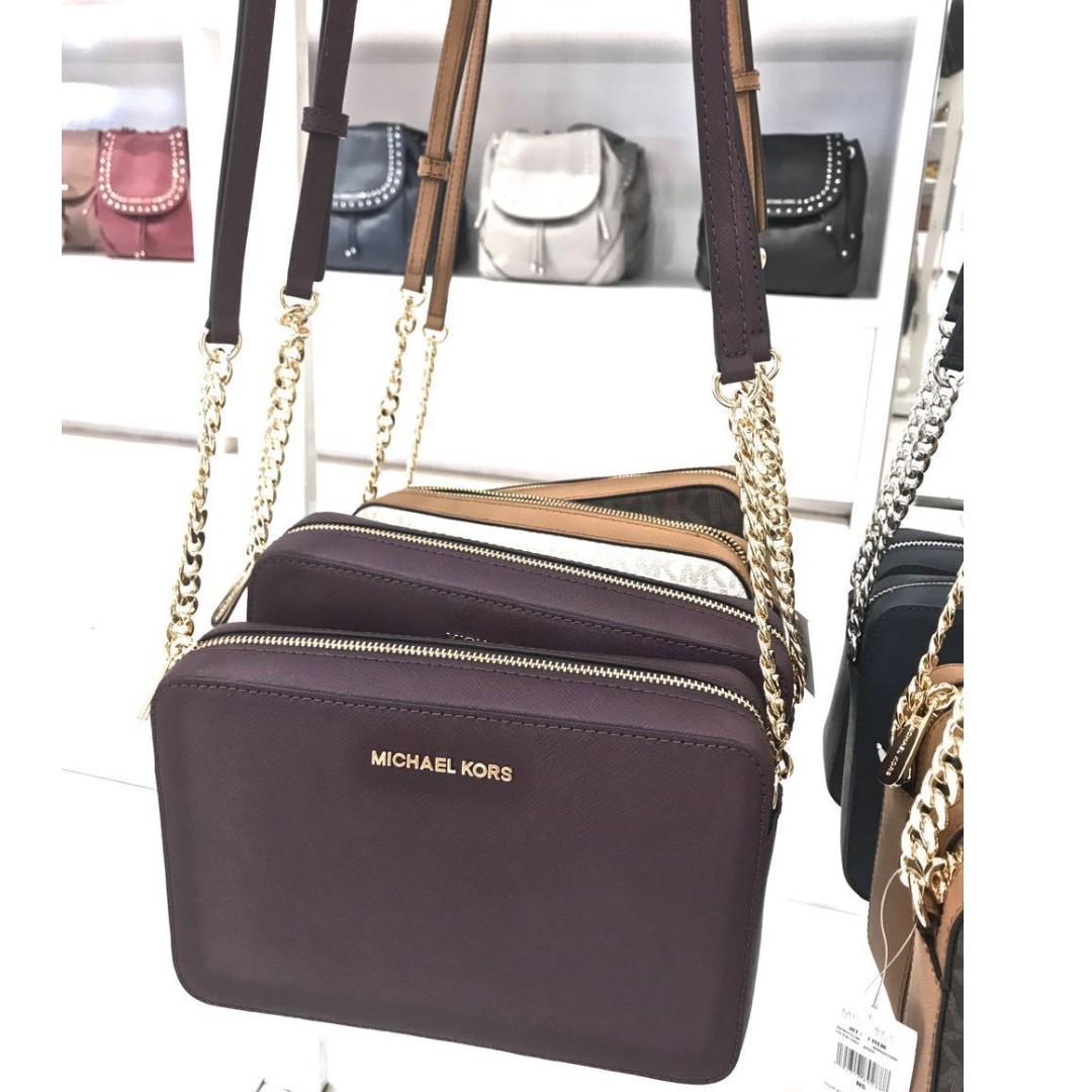 44c89c6cd23b Michael Kors Jet Set Travel Large Saffiano Leather Crossbody Bag ...