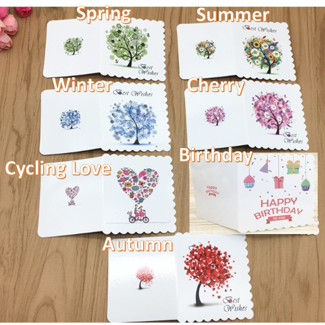 MINI GIFT CARDS BIRTHDAY GREETING CELEBRATION MOTHERS DAY