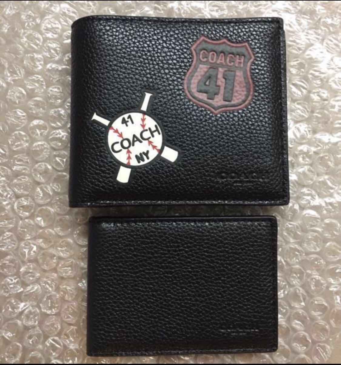 c948b45fc1f54 New Design Coach Men Leather Baseball 41 Mofit print-on (8 card ...