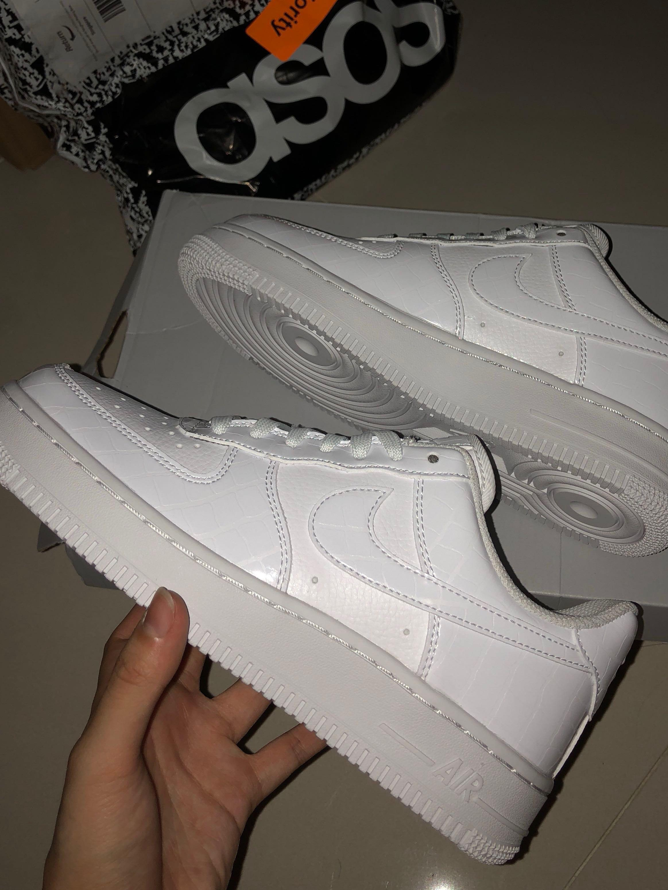 Nike Air Force 1's with Snakeskin Trim