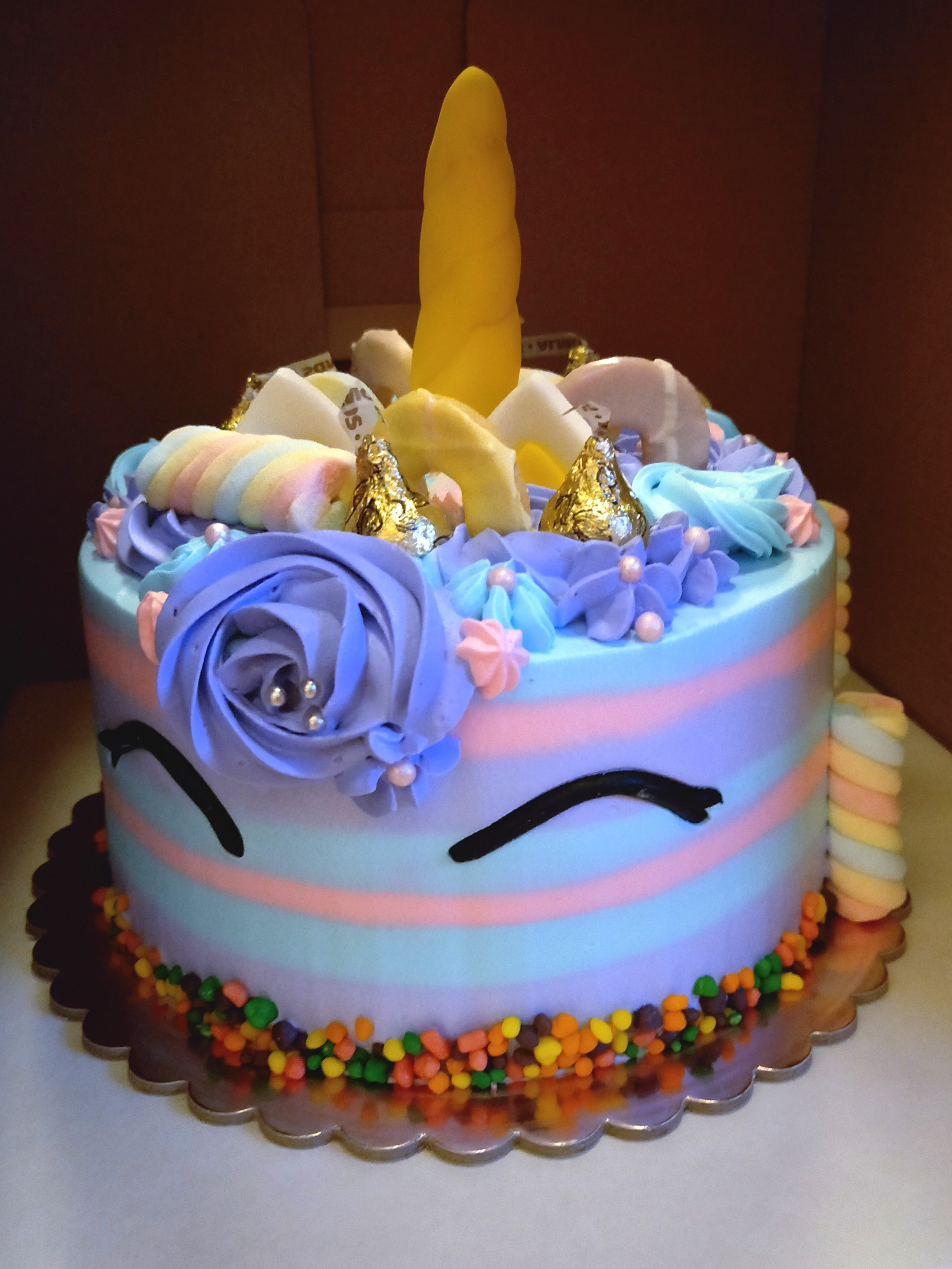 OFFER Candy Unicorn Birthday Cake Base Food Drinks Baked Goods