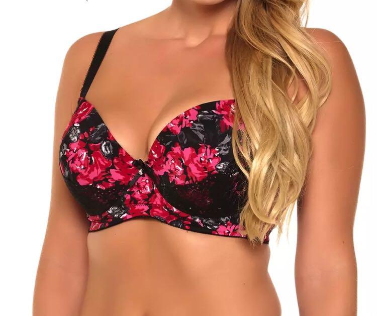 781044a47a PO) Floral Print Bralette Push Up Bra Lace Bralette Soutien Gorge ...