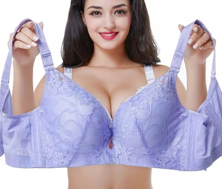 3bc361e86bc63 PO) Lace Bra Push Up Bra CDE Cup Plus Size Women Underwear Brassiere ...