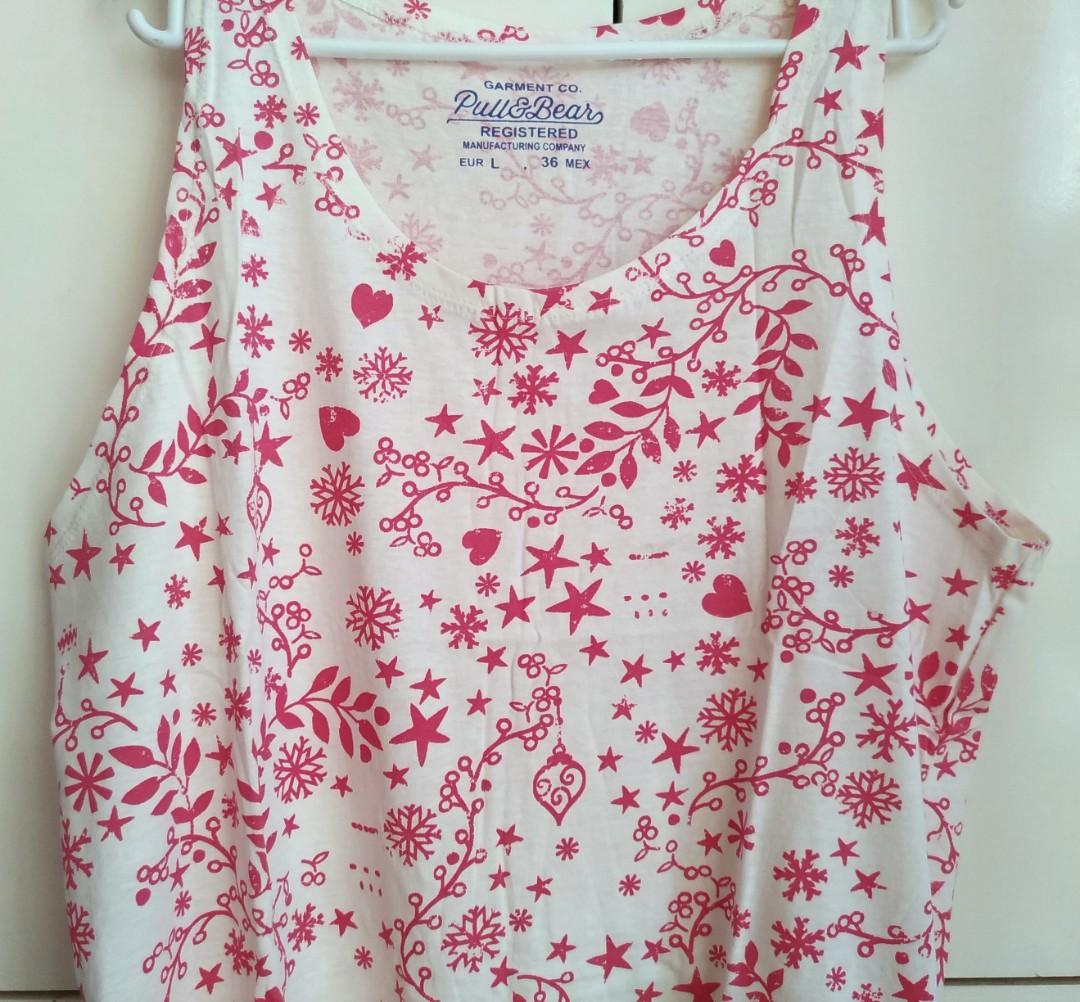 62c2810464e7 Pull & Bear Printed Sleeveless Shirt / Sando, Men's Fashion, Clothes, Tops  on Carousell