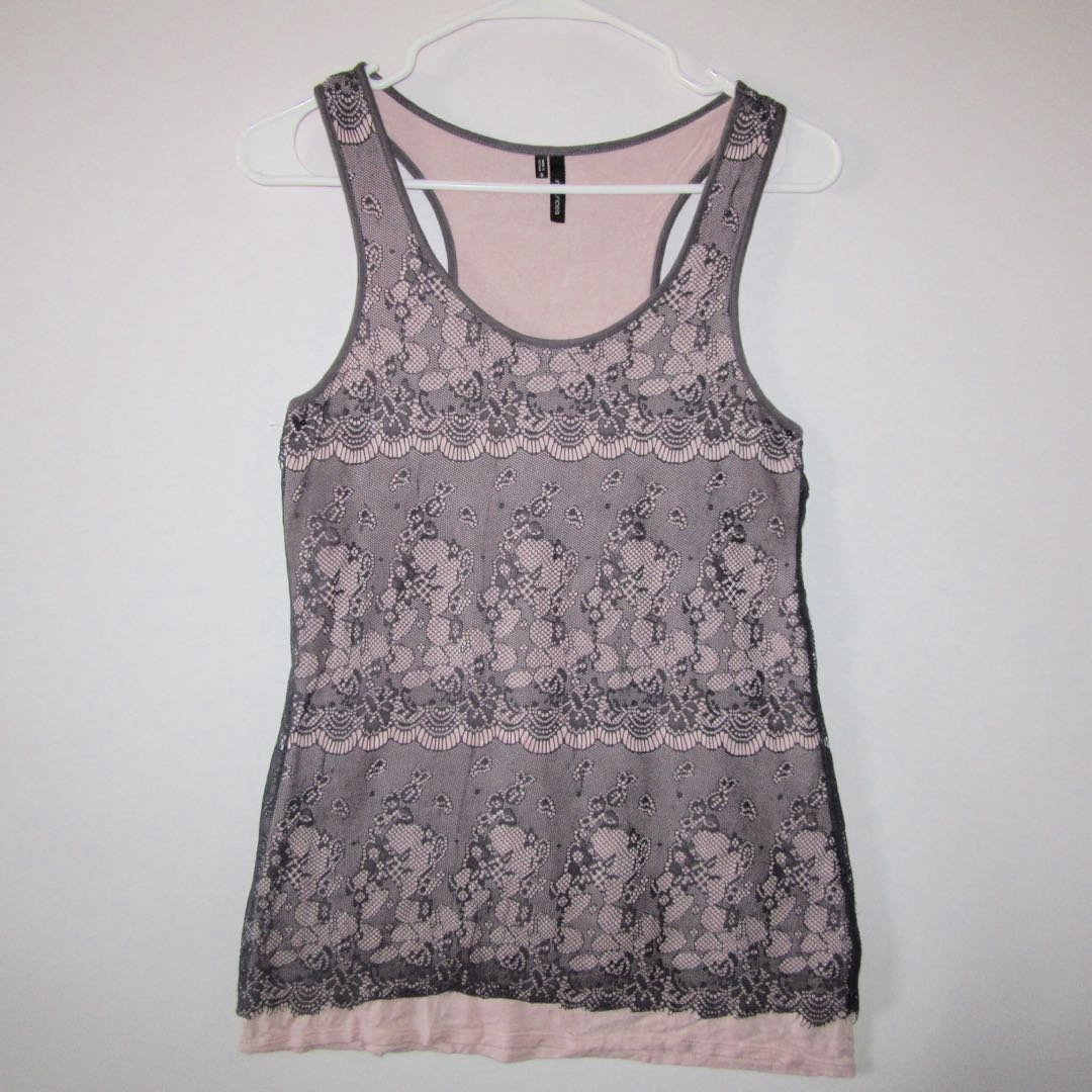 d9a1749f2e91b3 S-M) Maurices ladies laced tank...nice in actual.