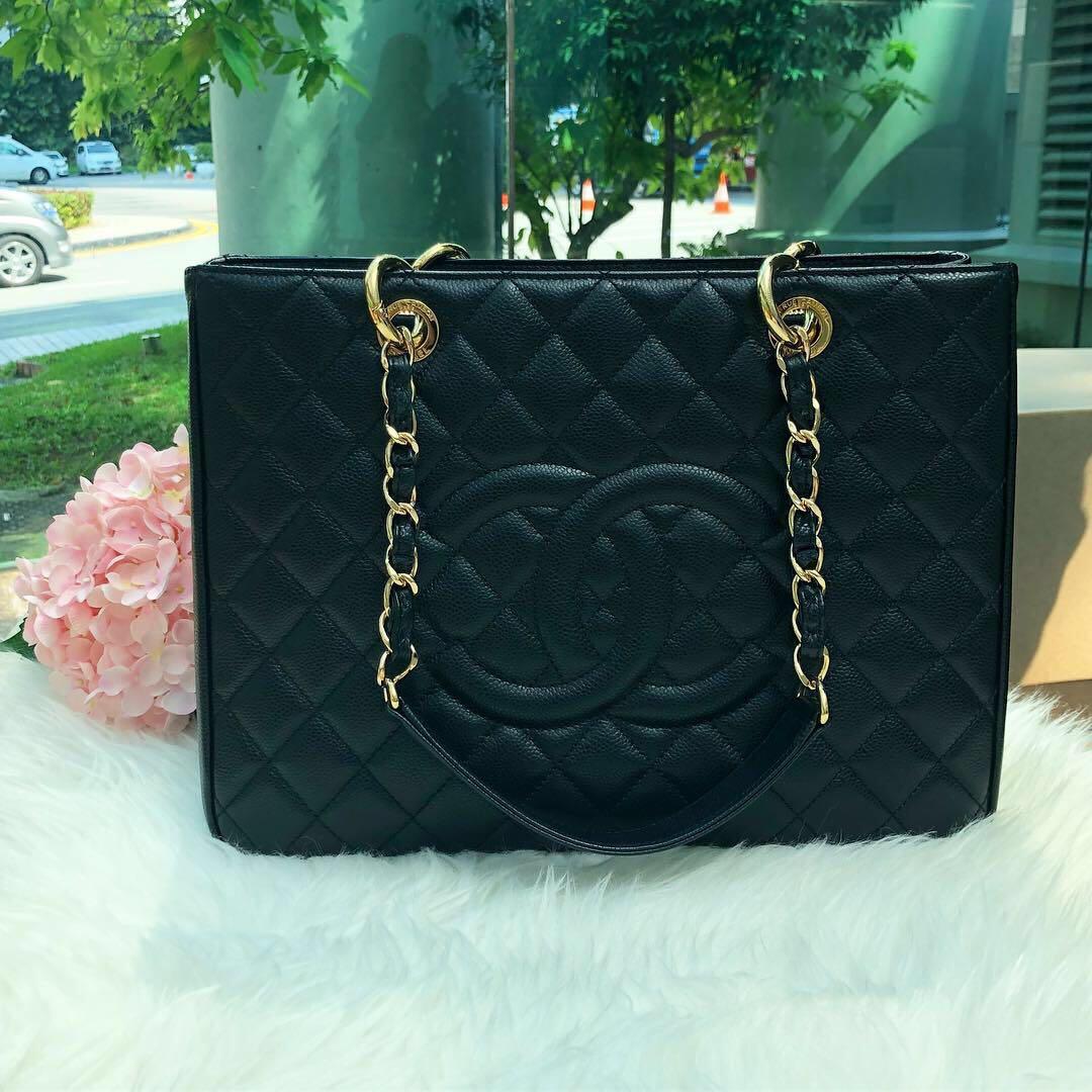 2b912bf900e3a0 ❌SOLD!❌ Good Deal! Full Set Original RECEIPT! Chanel GST in Black ...