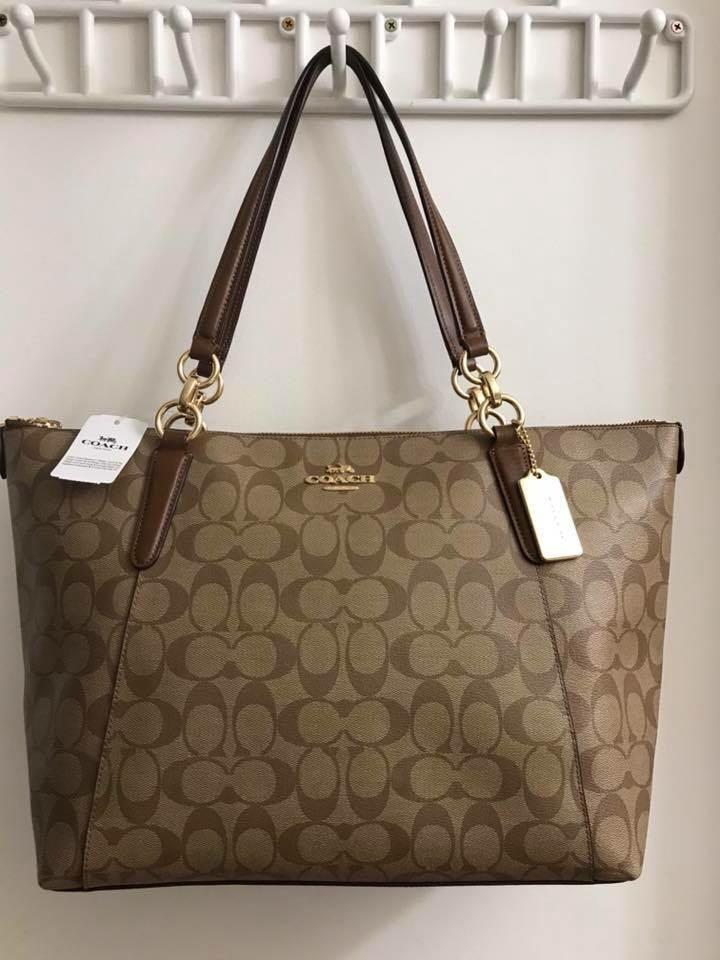 Sold❗️Authentic Coach Signature Brown Large Tote