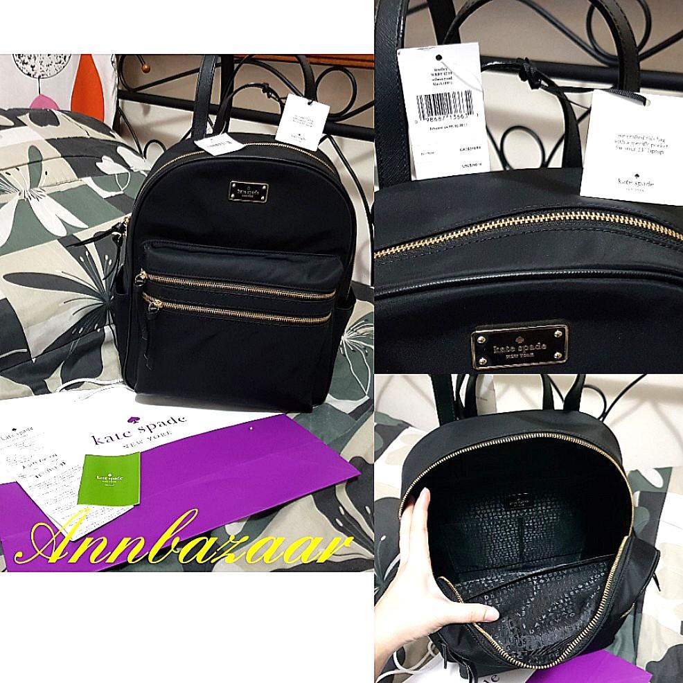 b470bd3a6b4ee SPECIAL OFFER! Kate Spade Large Bradley Wilson Road Backpack- Black ...