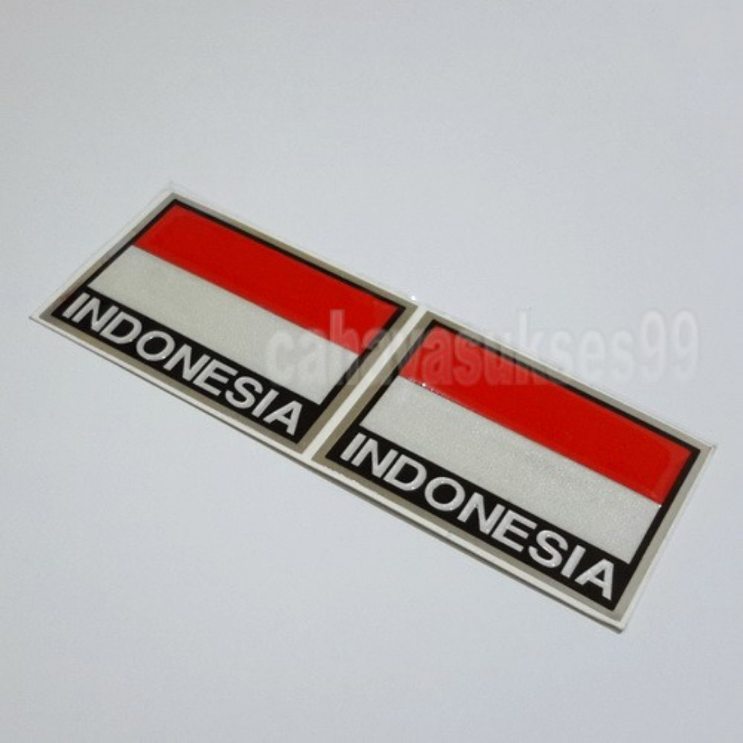 Sticker Timbul Bendera Merah Putih Indonesia Size 5 5cm X 4cm Stiker Emblem Body Motor Plastic Resin Tebal Paket 1 Set 2 Pcs New Ready Stock Motor Di Carousell