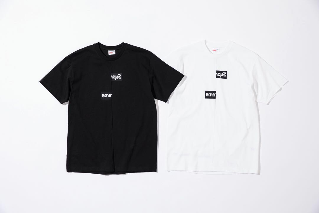 623d76c97db8 Supreme cdg split box logo tee (100% authentic), Men's Fashion ...