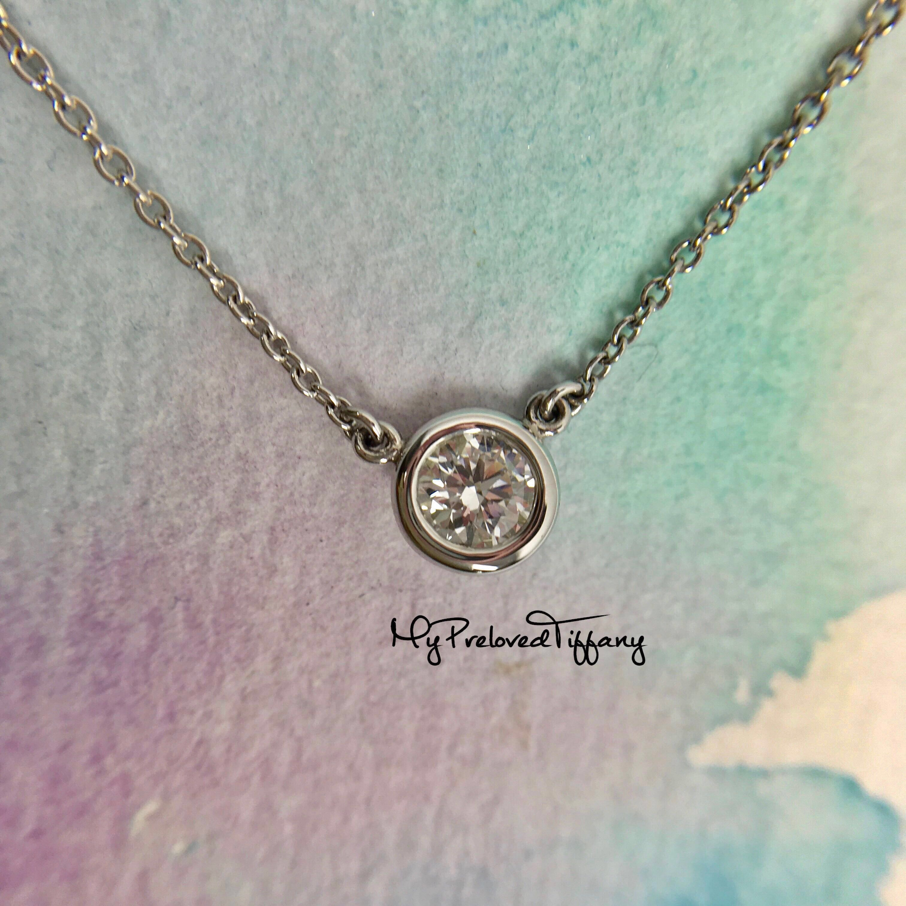 f1b708f29 Tiffany & Co. 0.30ct Diamond By The Yard Necklace Pt950 Platinum REMADE,  Women's Fashion, Jewellery, Necklaces on Carousell