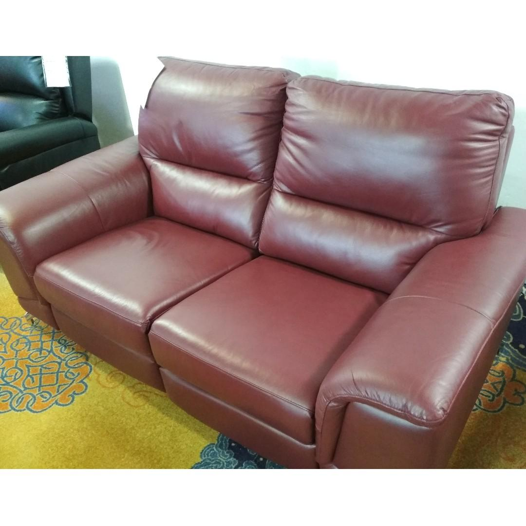 Two Seater Electric Recliner Leather