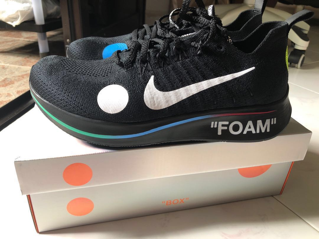 668f4ba27 US 10 BNDS Offwhite x nike zoom fly mercurial BLACK