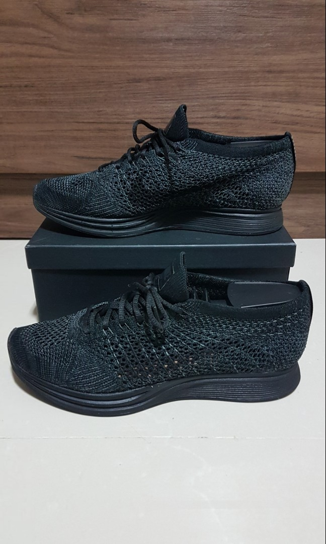 lowest price 18c9c e1685 US 7 - Nike - Flyknit Racer - Midnight Black - UK 6   EUR 40, Men s  Fashion, Footwear, Sneakers on Carousell