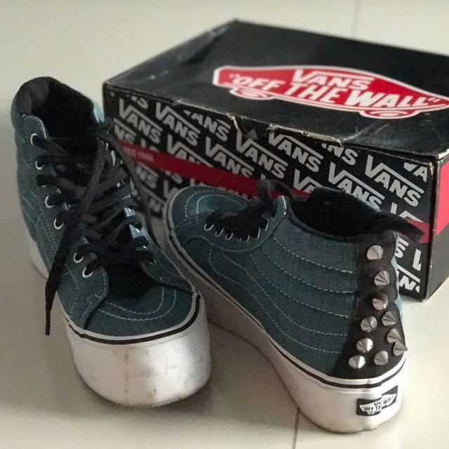 9ae1dcfa77 Vans Denim Studded Platform Sneakers