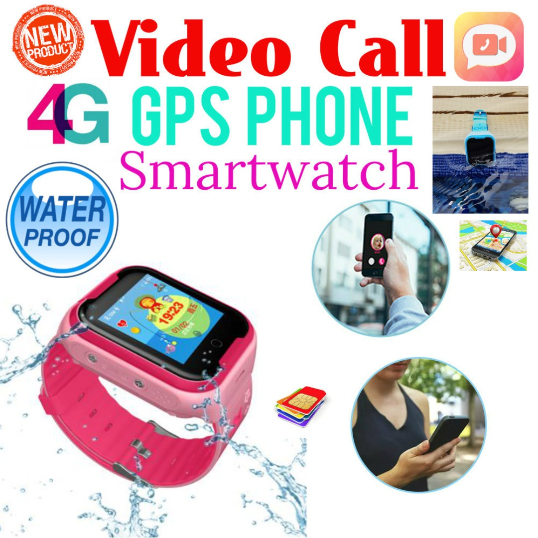 002ff77e2ddb Waterproof 4G Video Call GPS Tracking Phone Watch