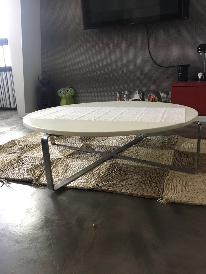 White Granite Top Coffee Table Furniture Tables Chairs On Carousell