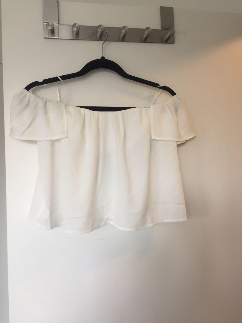 Whitefox Boutique off shoulder top size small brand new