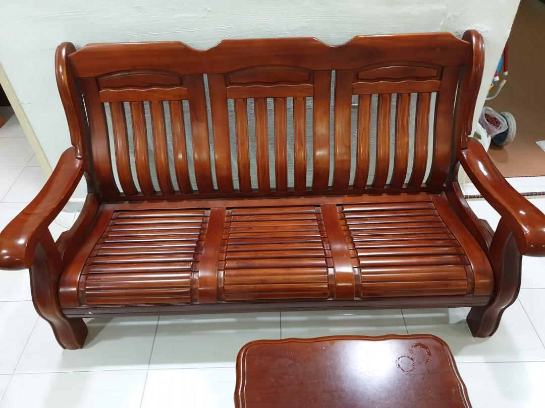Wooden Sofa Antique Solid Wood