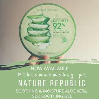NATURE REPUBLIC Soothing & Moisture 92% Aloe Vera Soothing Gel
