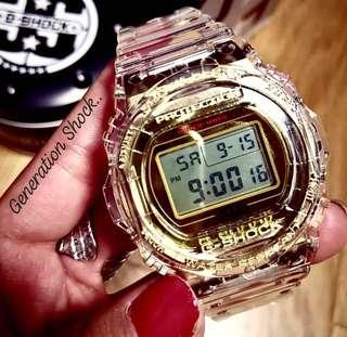 NEW🌟ARRIVAL in GSHOCK-BEAST DIVER SPORTS WATCH : 1-YEAR OFFICIAL G-SHOCK WARRANTY 35th ANNIVERSARY CRYSTAL CLEAR JELLYFISH : Best For Most ROUGH Users & Unisex : DW-5735E-7A / DW5735E / DW-5735 / DW5735 / GX-56 / DW-5600 / GSHOCK