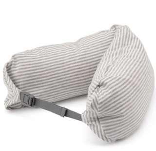 MUJI無印良品微粒貼身靠枕/雜灰X白
