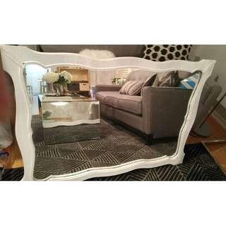 Large White Mirror